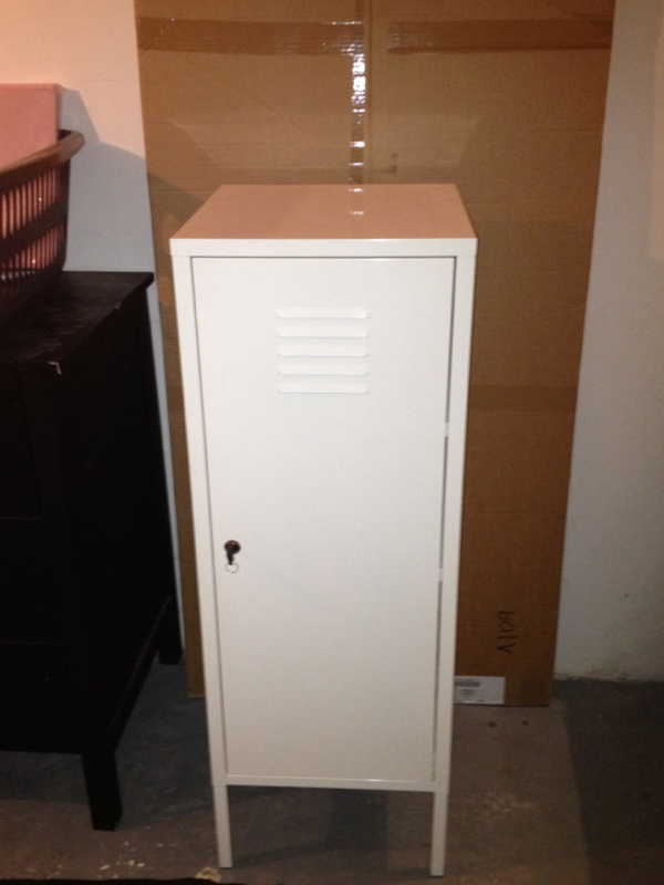Ikea ps armoire m tal laqu e blanc ebay - Ikea armoire metallique ...